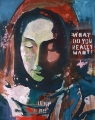 What do you really want No.6 80x100 cm, oil on canvas, 2019 ABSENCE