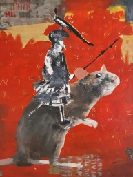 Rider [based on Carpaccio], 100x130 cm, oil on canvas, 2019. Price: 4 400 PLN